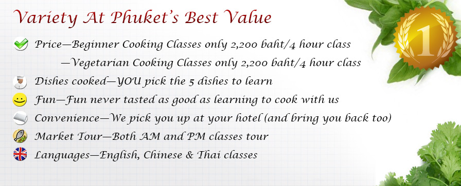Thai Cooking classes in Phuket